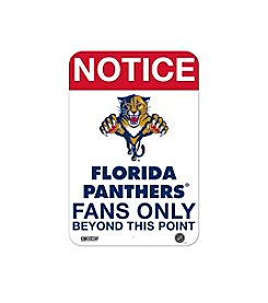 NHL® Florida Panthers Fans Only Aluminum Sign