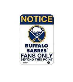 NHL® Buffalo Sabres Fans Only Aluminum Sign