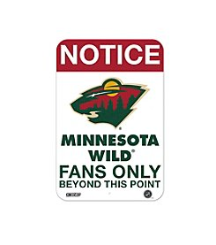 NHL® Minnesota Wild Fans Only Aluminum Sign