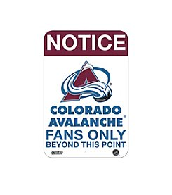NHL® Colorado Avalanche Fans Only Aluminum Sign