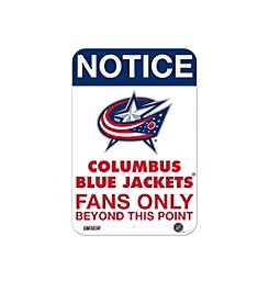 NHL® Columbus Blue Jackets Fans Only Aluminum Sign