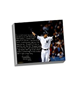 Aaron Boone Facsimile 2003 ALCS Game 7 Walk-Off Story Stretched 16x20 Story Canvas