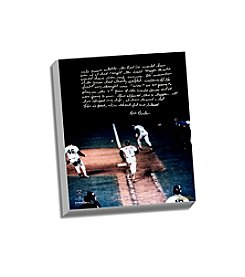 Bill Buckner Facsimile 86 World Series Error Story Stretched 16x20 Story Canvas