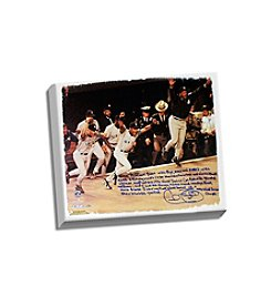 Cecil Fielder Facsimile 1996 World Series Story Stretched 16x20 Story Canvas
