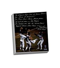 Steve Garvey Facsimile 81 WS Celebration Story Stretched 16x20 Story Canvas