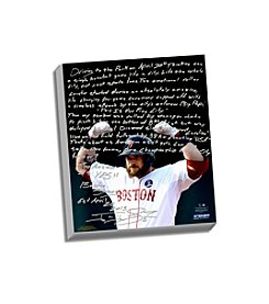 Jonny Gomes Facsimile Boston Strong Story Stretched 16x20 Canvas