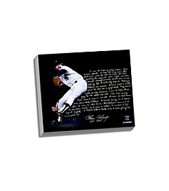 Goose Gossage Facsimile On Closing Story Stretched 16x20 Story Canvas