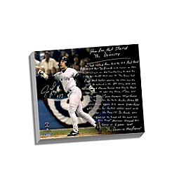 Jim Leyritz Facsimile Dynasty Home Run Story Stretched 16x20 Story Canvas