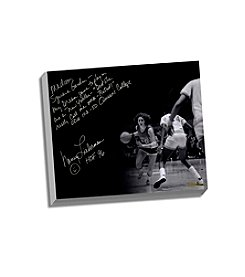 Nancy Lieberman Facsimile Playing in MSG Story Stretched 16x20 Canvas