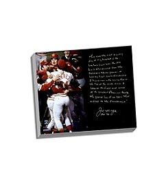 Joe Morgan Facsimile Big Red Machine Story Stretched 16x20 Story Canvas