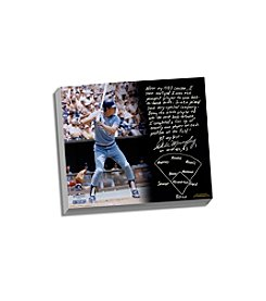 Dale Murphy Facsimile Back-to-Back MVPs Story Stretched 16x20 Story Canvas