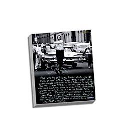 Joe Pepitone Facsimile Stickball Story Stretched 16x20 Story Canvas