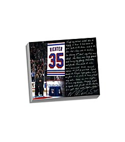 Mike Richter Facsimile Jersey Retirement Night Stretched 16x20 Story Canvas