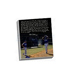 Mel Stottlemyre Facsimile  Coaching Doc Story Stretched 16x20 Story Canvas