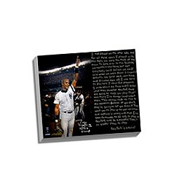 Darryl Strawberry Facsimile 1996 World Series Story Stretched 16x20 Story Canvas
