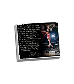Spud Webb Facsimile Slam Dunk Contest Story Stretched 16x20 Story Canvas