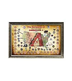 MLB® Arizona Diamondbacks Baseball Parks Map Collage with Game Used Dirt