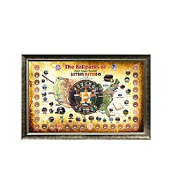 MLB® Houston Astros Baseball Parks Map Collage with Game Used Dirt