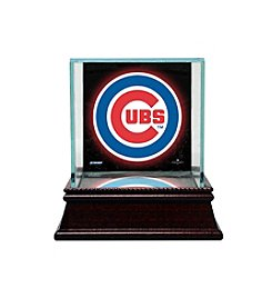 MLB® Chicago Cubs Glass Single Baseball Case with Team Logo