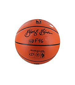 George Gervin Signed NBA Orange Basketball with Hall of Fame '96 Inscription