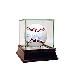 Rickey Henderson MLB Baseball with Hall of Fame Inscription