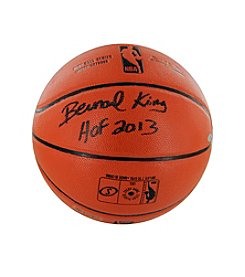 Bernard King Signed Basketball with Hall of Fame Inscription
