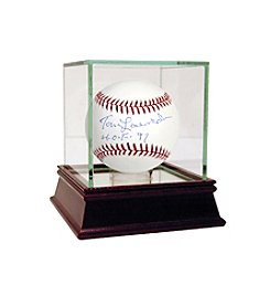 Tom Lasorda MLB Baseball with Hall of Fame Inscription