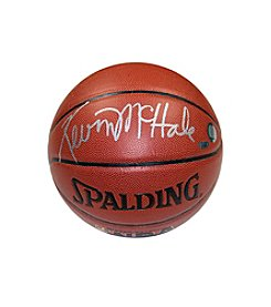 Kevin McHale Signed Brown Basketball