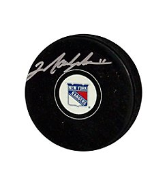 Mark Messier Rangers Autograph Puck