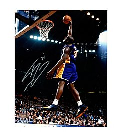 Shaquille O'Neal Signed Lakers Dunk in Purple 16