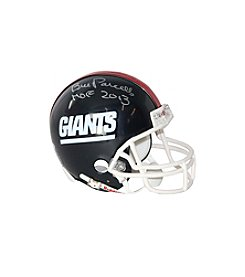 NFL® New York Giants Bill Parcells Signed Mini Football Helmet with Hall of Fame Inscription