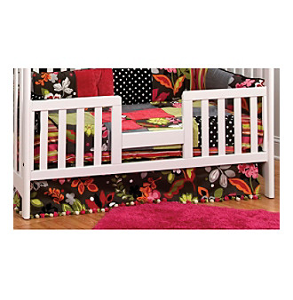 Issue Craft Toddler Guard Rail for Convertible Cribs in White