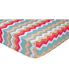 Waverly® Pom Pom Play Chevron Crib Sheet