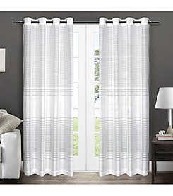 Exclusive Home Pesaro Striped Grommet Window Curtain