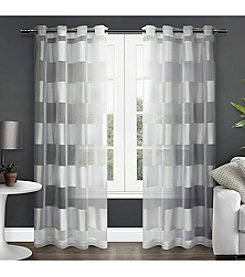 Exclusive Home Navaro Striped Grommet Window Curtain