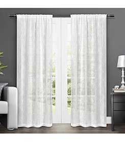 Exclusive Home Salzburg Rod Pocket Window Curtain