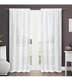 Exclusive Home Zurich Rod Pocket Window Curtain