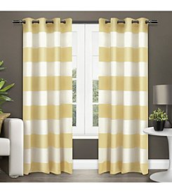 Exclusive Home Surfside Cabana Stripe Grommet Window Curtain