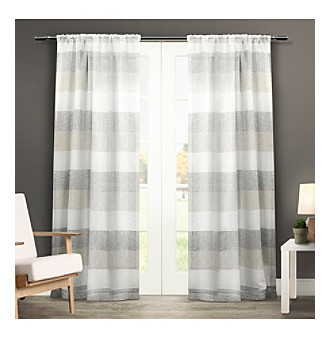 Exclusive Home Bern Rod Pocket Window Curtain