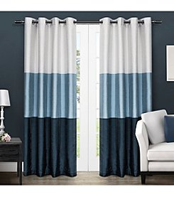 Exclusive Home Chateau Striped Grommet Window Curtain