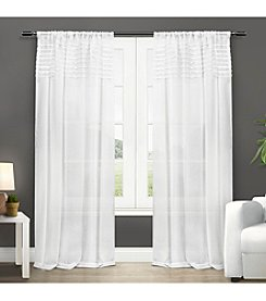 Exclusive Home Barcelona Rod Pocket Window Curtain