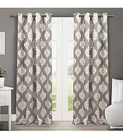 Exclusive Home Medallion Blackout Thermal Grommet Window Curtain