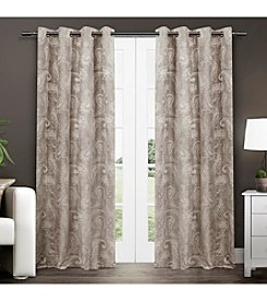 Exclusive Home Bangalore Paisley Thermal Grommet Window Curtain