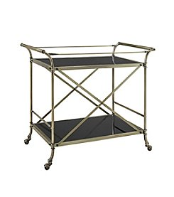 Powell® Antique Brass Bar Cart