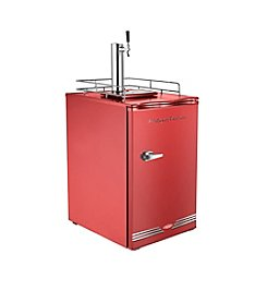 Nostalgia Electrics® Retro Series™ Double Kegorator Commercial Twin Tap Beer Keg Fridge