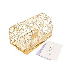 Cathy's Concepts Personalized Heart Gold Gift Card Mailbox Holder