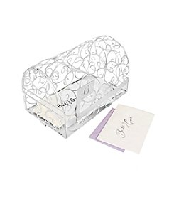 Cathy's Concepts Personalized Silver Gift Card Mailbox Holder
