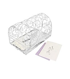 Cathy's Concepts Personalized  Heart Silver Gift Card Mailbox Holder