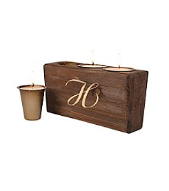 Cathy's Concepts Personalized Rustic Head Table Candle Holder