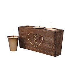 Cathy's Concepts Personalized Rustic Heart Sugar Mold Unity Candle